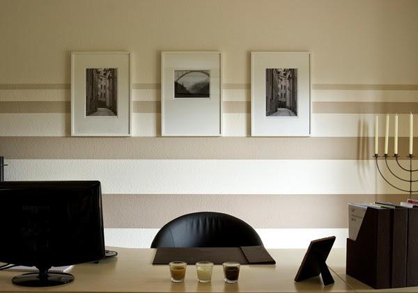 Conseils d co et relooking peinture rayures sur le mur conseils et id es for Peindre un salon en deux couleurs