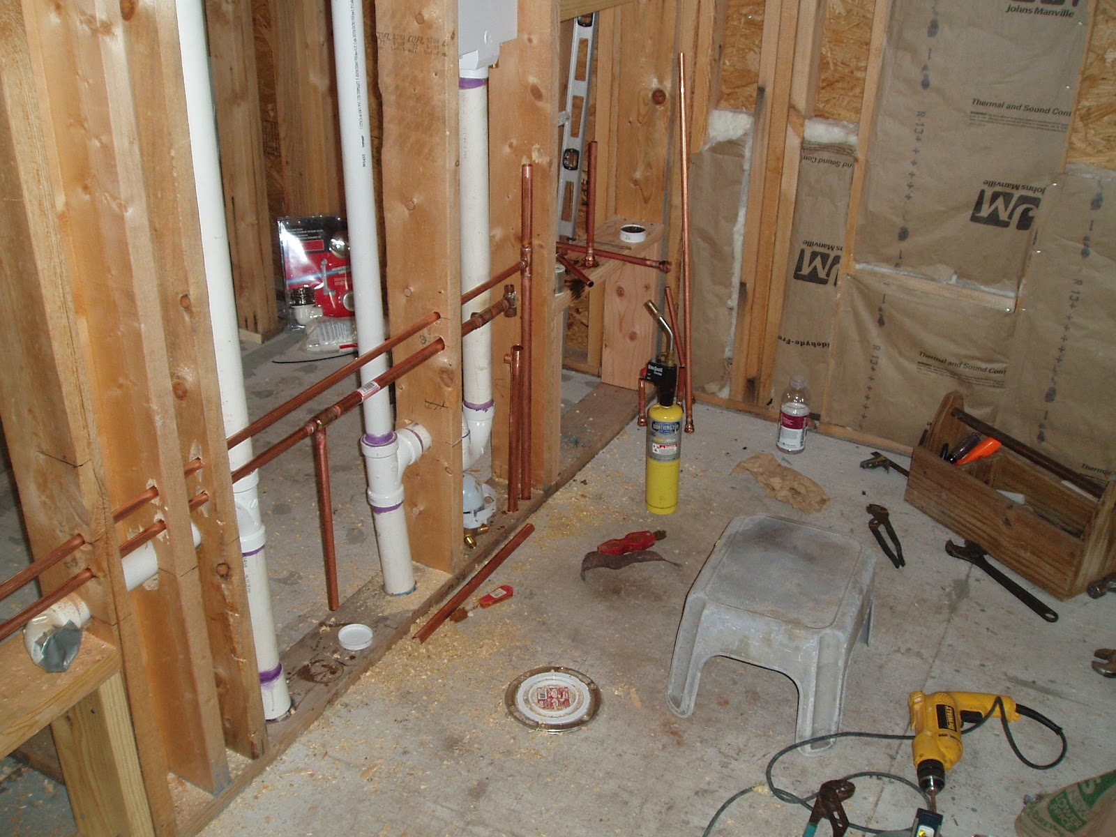 Drain waste and water lines morgan homestead for Sewer line vent