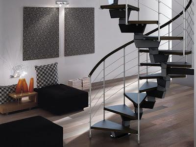 foto sala con escalera