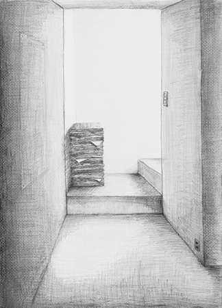 横浜美術学院の中学生向け教室 美術クラブ 言葉からイメージするデッサン『家』11