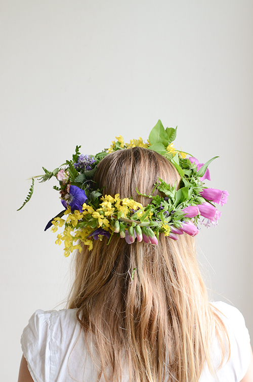 how to make flower crowns with kids
