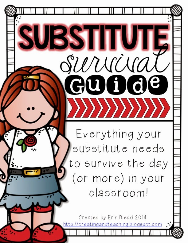 http://www.teacherspayteachers.com/Product/Substitute-Survival-Guide-Editable-1347298