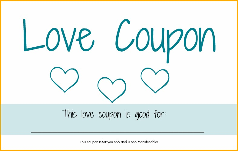 Make your own love coupons