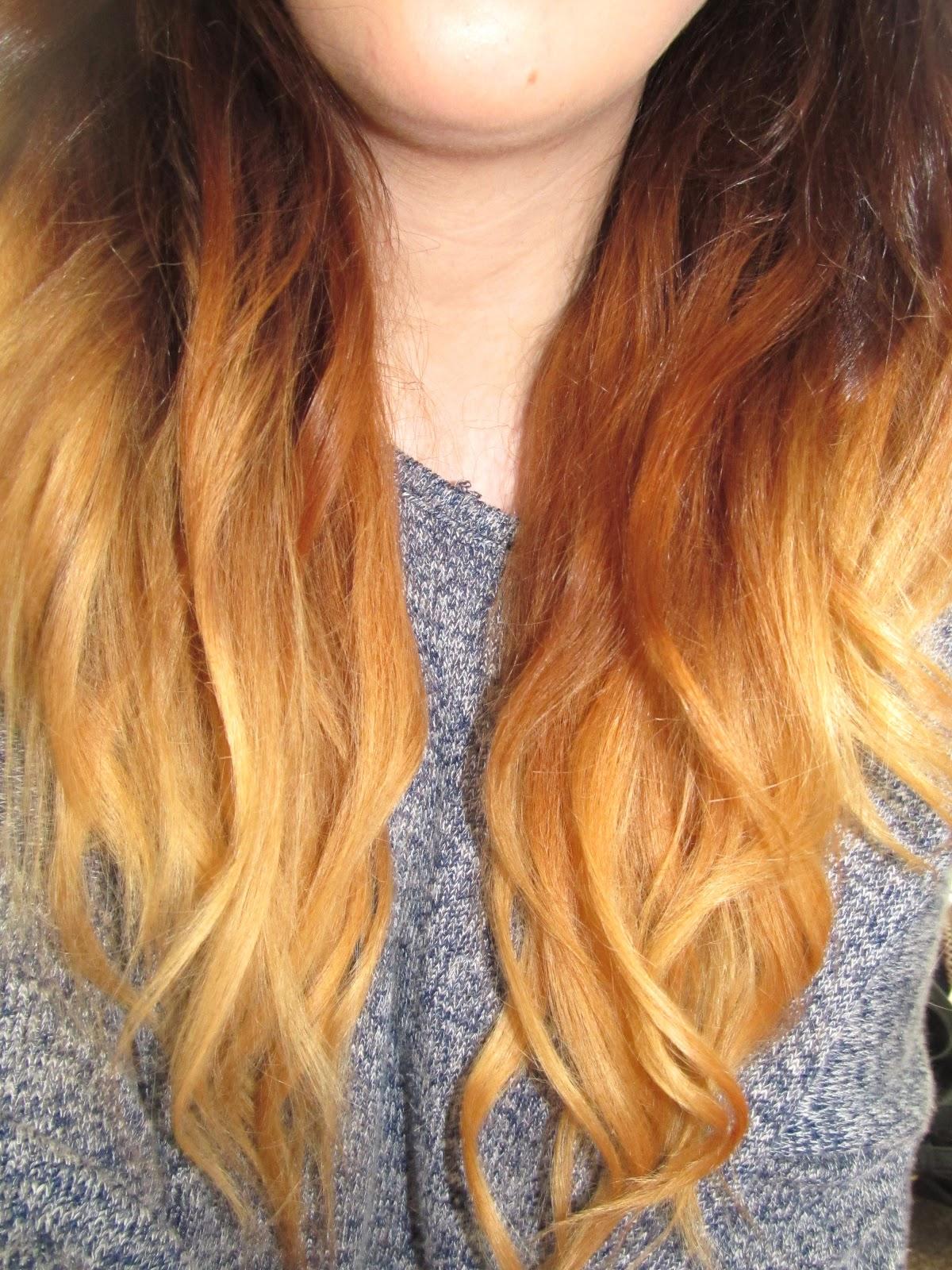 Ombre Dip Dye Hair