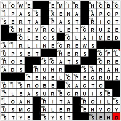Times crossword solution laxcrossword com la times crossword
