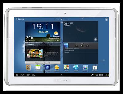 Homescreen Samsung Galaxy Note 10.1