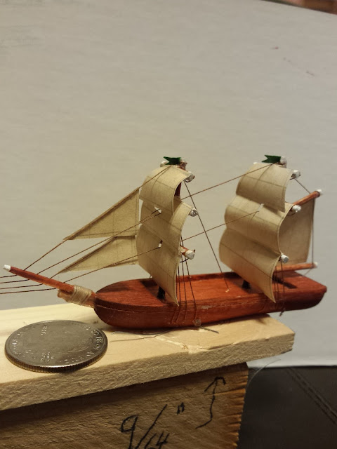 fully rigged model ship