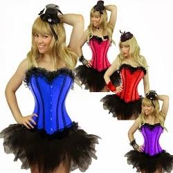 Plus Size Burlesque Corset Costume for Women