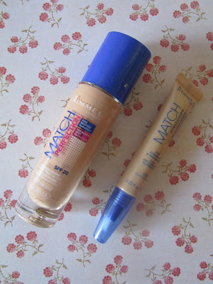 Base de maquillaje Match Perfection Foundation y Match Perfection Concealer Rimmel London