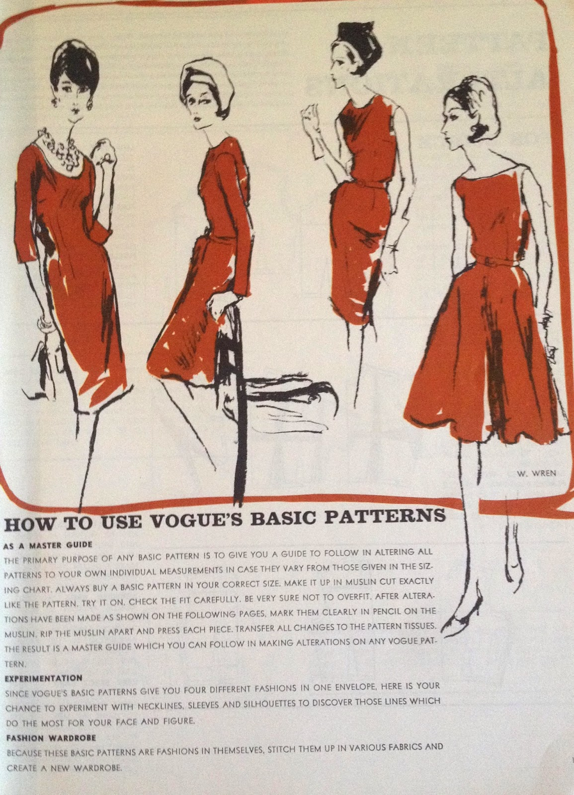 Sewing the 60s: Vogue Sewing book 1964