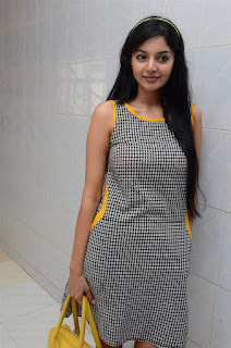 Sanam Shetty Pictures in Short Dress at Singham 123 Theatre Visit