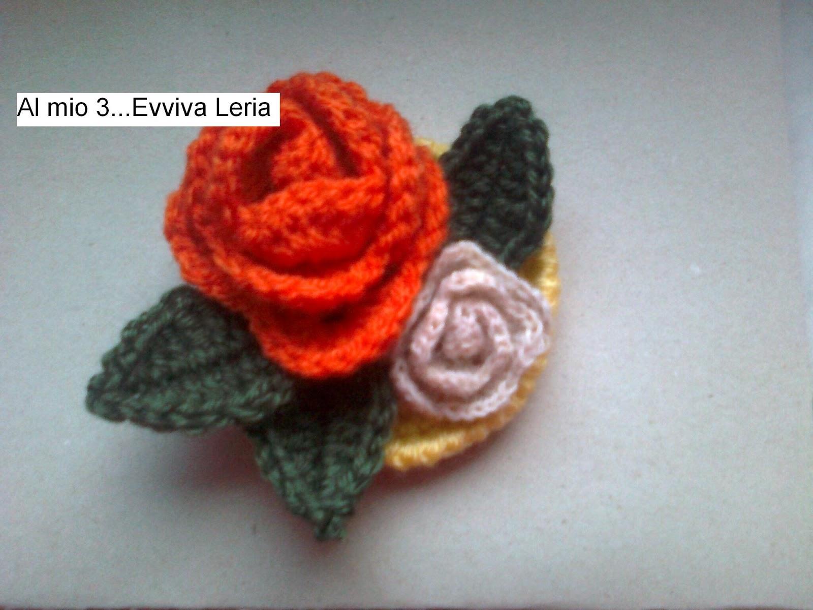 Tutorial Rose Amigurumi : Al mio 3...Evviva Leria: TAPPETO DI ROSE ALLUNCINETTO ...