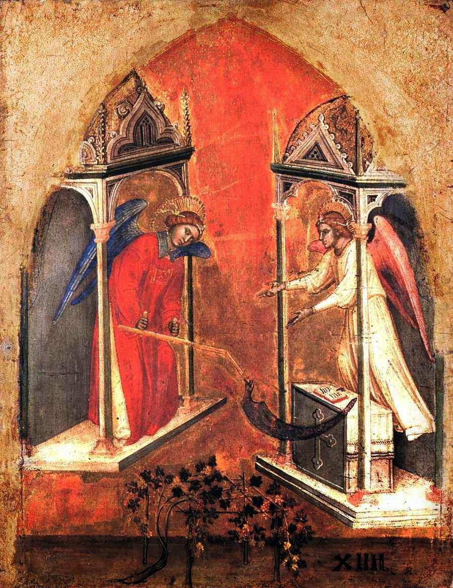 Anjo manda ceifar e vendimiar o mundo. Jacobello Alberegno (... – 1397)