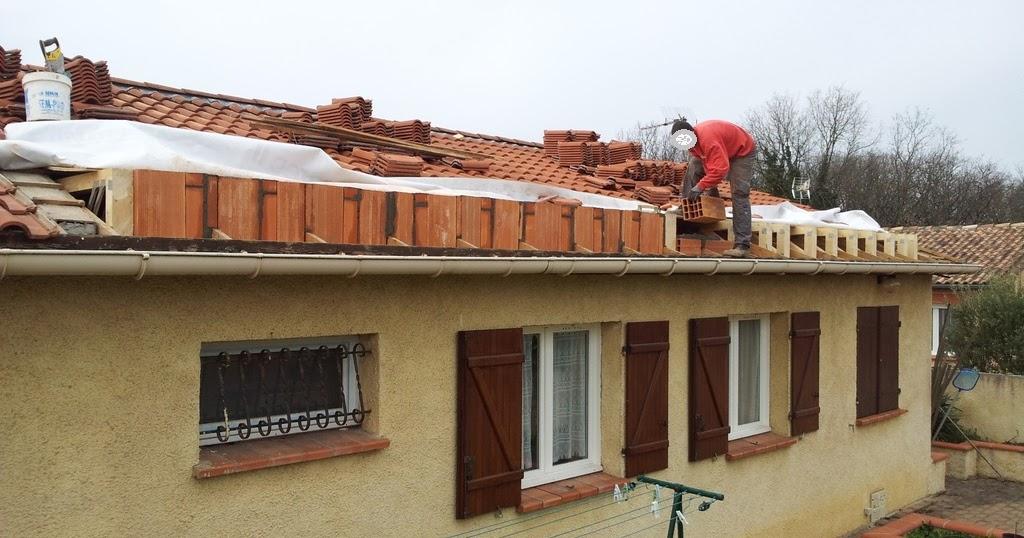 Agrandissement d 39 une maison par le haut 6 me jour for Agrandissement maison 42