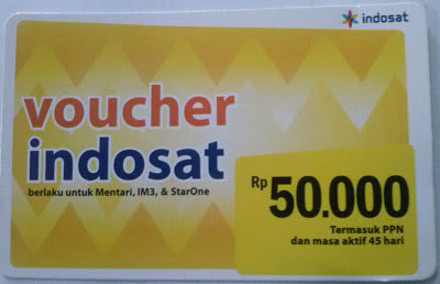 Gambar Voucher Indosat