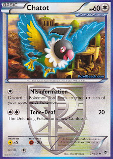 Chatot Plasma Blast Pokemon Card