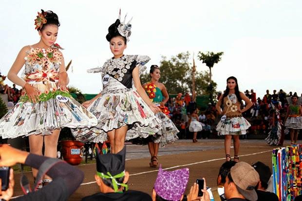 Festival green & recycle fashion di Banyuwangi 2015.