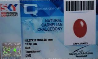 Batu Natural Red Carnelian + Memo