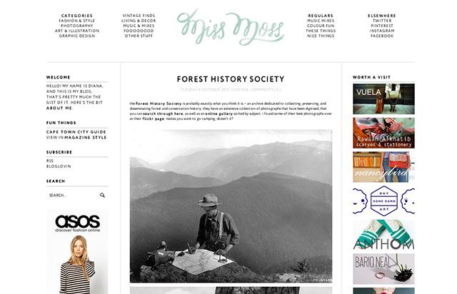 miss moss blog screenshot