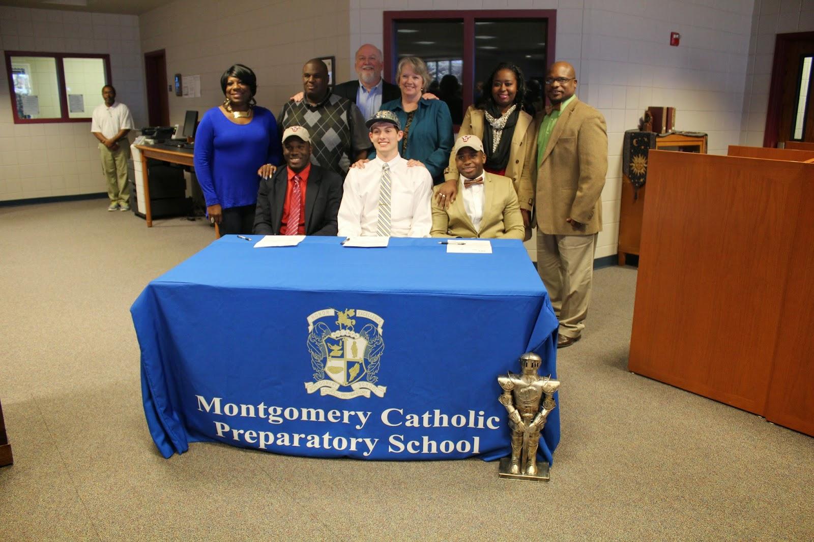 Three Montgomery Catholic Athletes Sign Athletic Commitments February 12 2