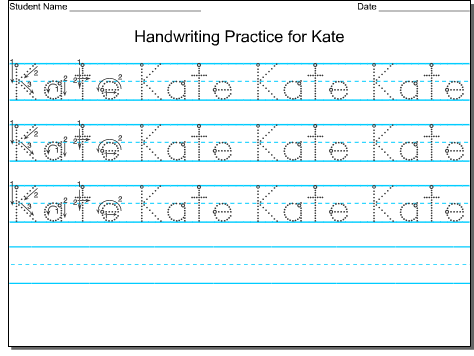 Handwriting For Preschool