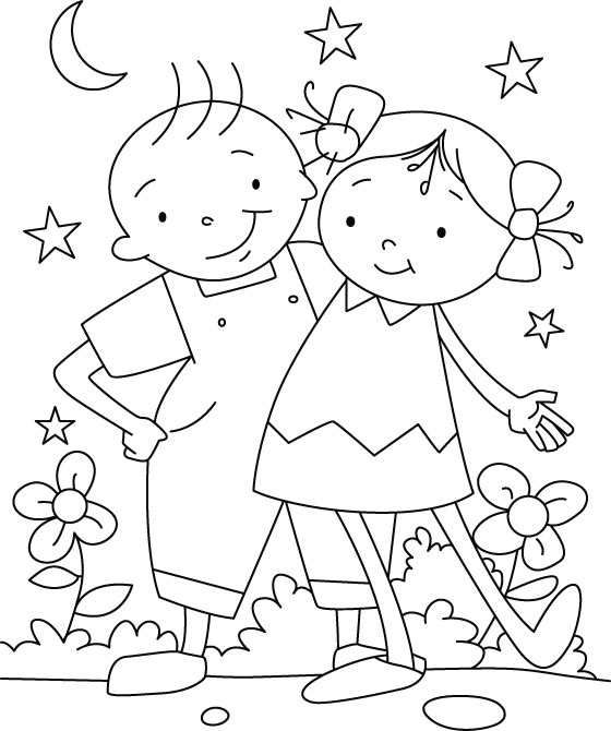 Friendship Day Coloring Pages