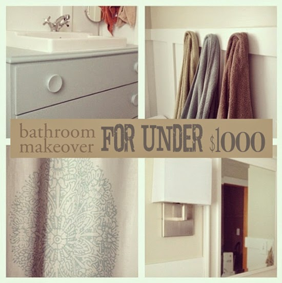 "Bathroom Makeover For Under $1000 martha.anne - living through creativity: the ""new"" bathroom on a"