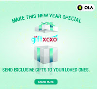Free New Year Gift from Ola & GiftXOXO for North Indian User
