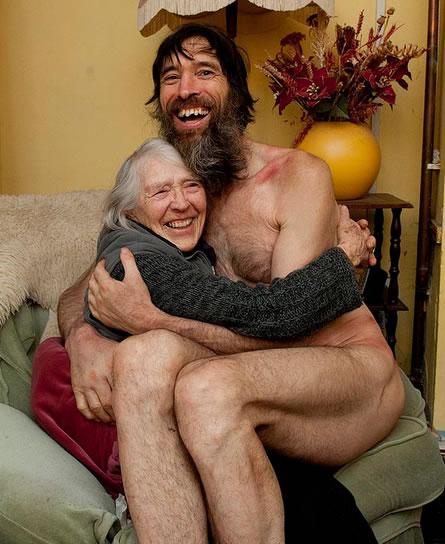 Gough con su madre