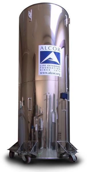 Tanque de crionozación de la empresa Alcor