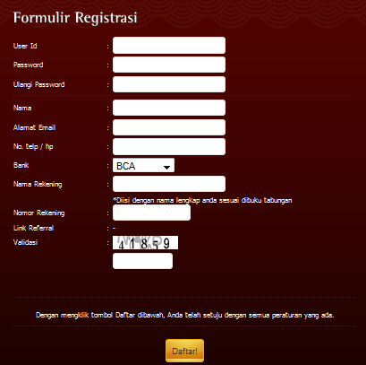 tabel Registrasi NagaPoker