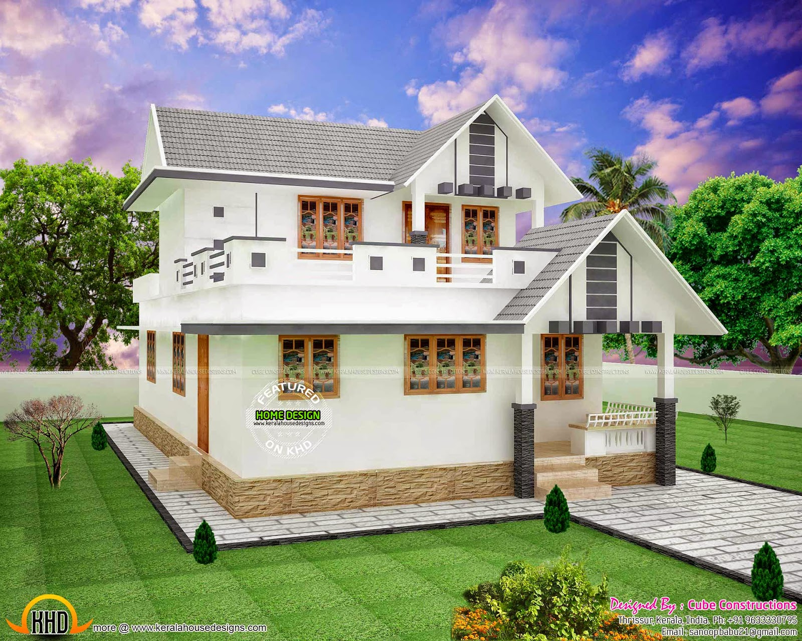 1550 sq ft small double storied home kerala home design for 1500 sq ft house