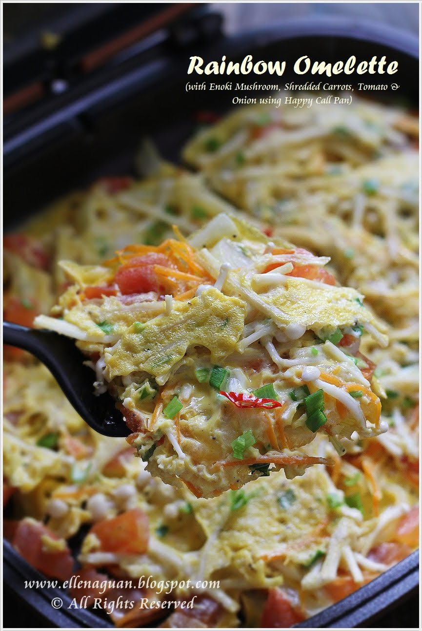 Cuisine paradise singapore food blog recipes reviews and travel rainbow omelette using happy call pan forumfinder Choice Image