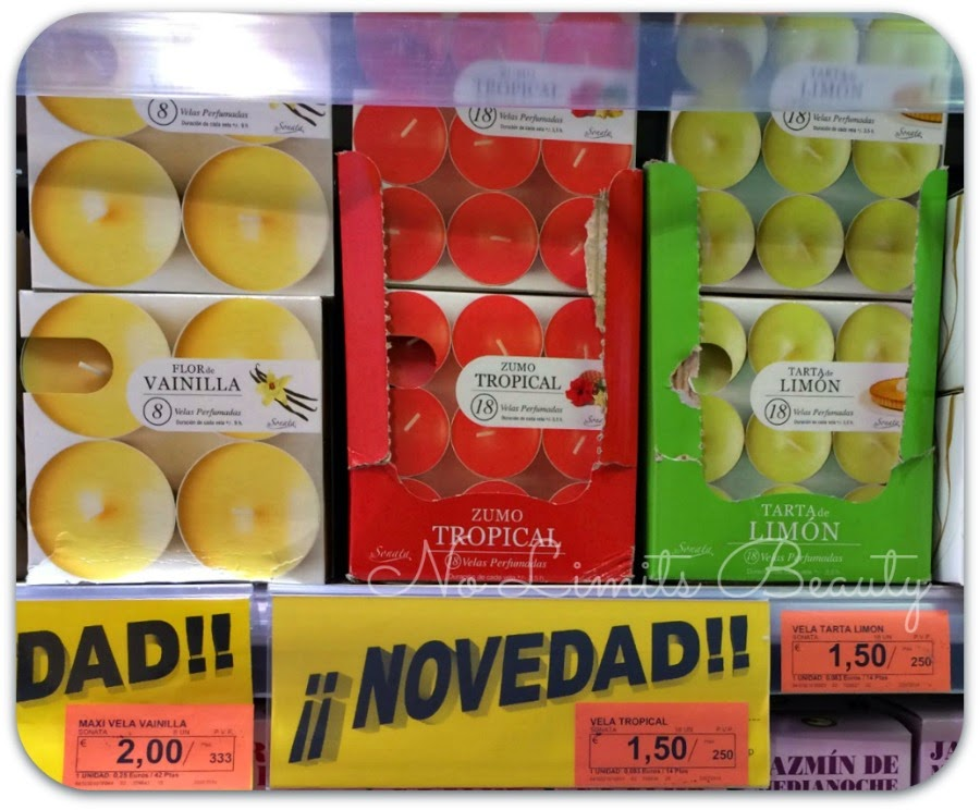 Velas perfumadas de Sonata- Flor de Vainilla, Zumo Tropical y Tarta de Limón