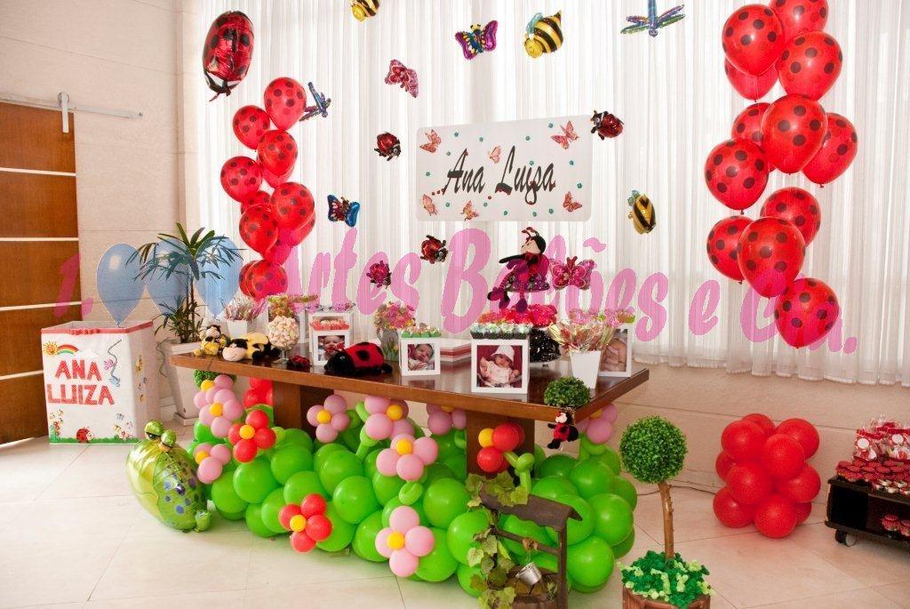 decoracao de festa infantil jardim das joaninhas:Mil Artes Balões : Festa Clean da Joaninha