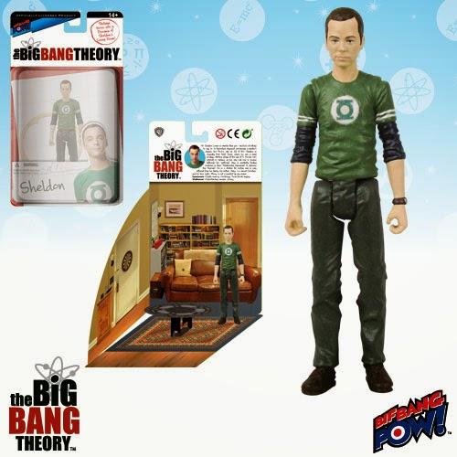 "The Big Bang Theory Series 1 3¾"" Action Figures by Bif Bang Pow! - Green Lantern T-Shirt Sheldon"