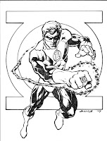 Green Lantern Coloring Pages