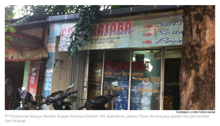 PT Bodongan bikinan DPRD DKI Jakarta Part 2 Jakarta - PT Frislianmar Masyur Mandiri