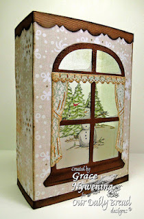 "ODBD Exclusive Spellbinders ""Windows"" Die Set, ""Warm Wishes"" Designer Grace Nywening"