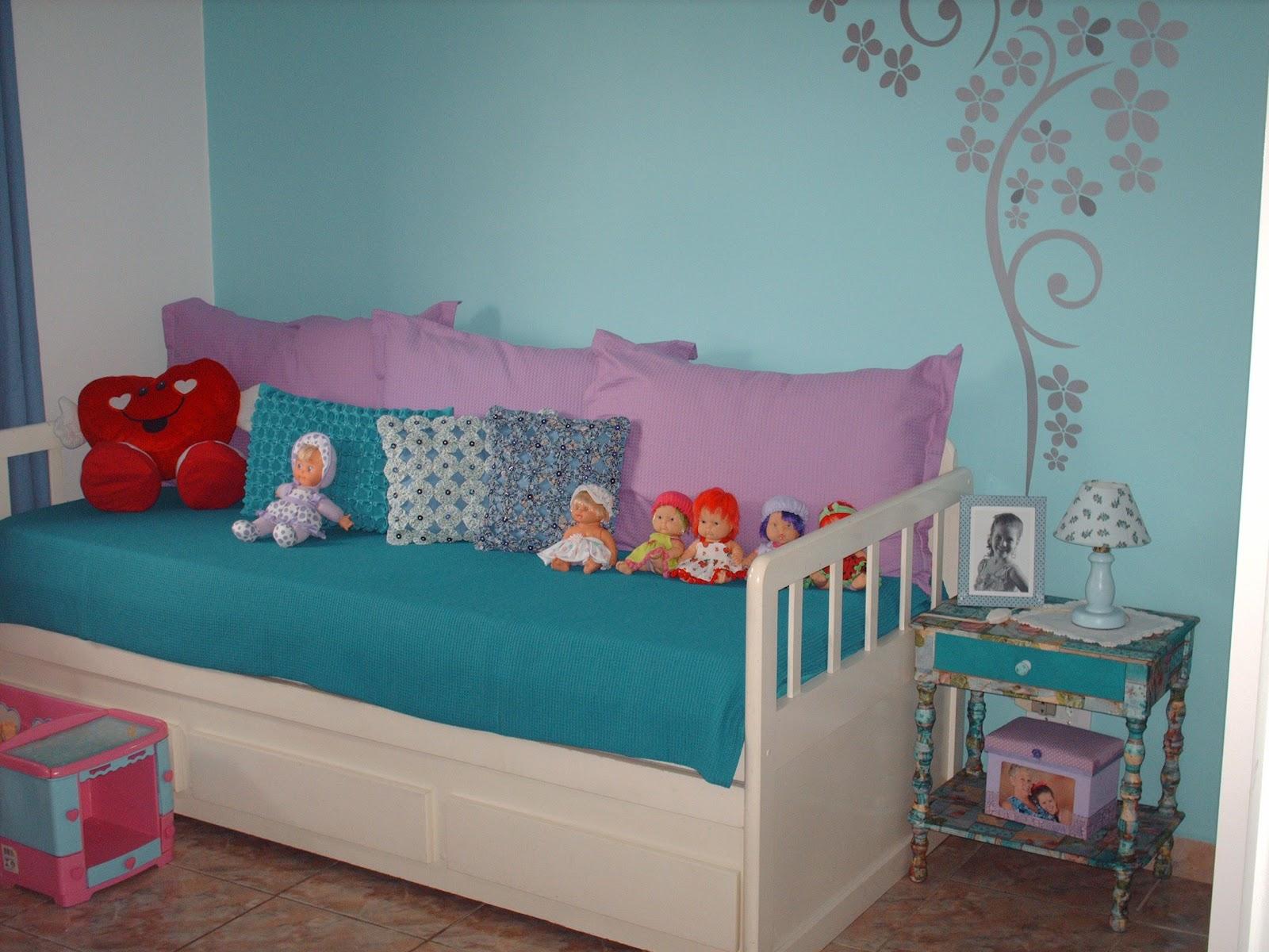 Maison Criativa Quarto de menina? Sim, AZUL! ~ Quarto Pintado De Azul Turquesa