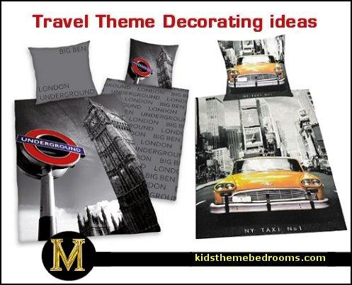 Theme decorating ideas travel theme bedding travel themed bedrooms jpg