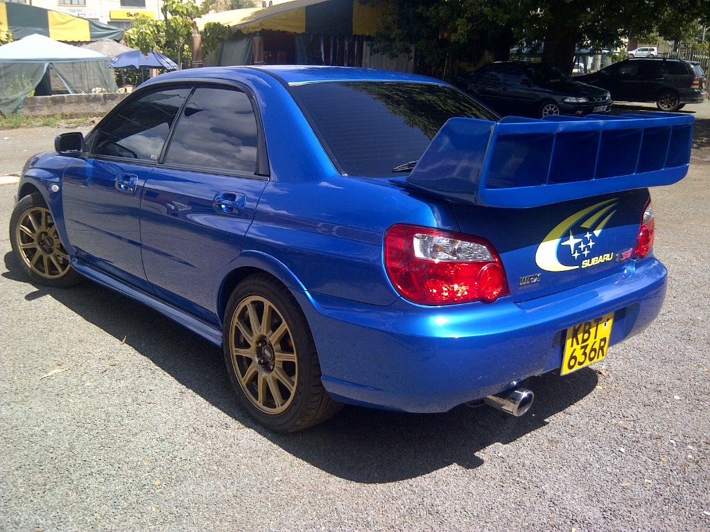 nairobimail subaru impreza wrx sti 2005 prodrive blue. Black Bedroom Furniture Sets. Home Design Ideas