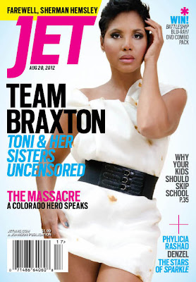 Toni Braxton on Jet Magazine