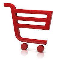 Online store shopping cart graphic
