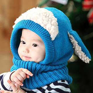 Unisex Baby Hooded Scarf