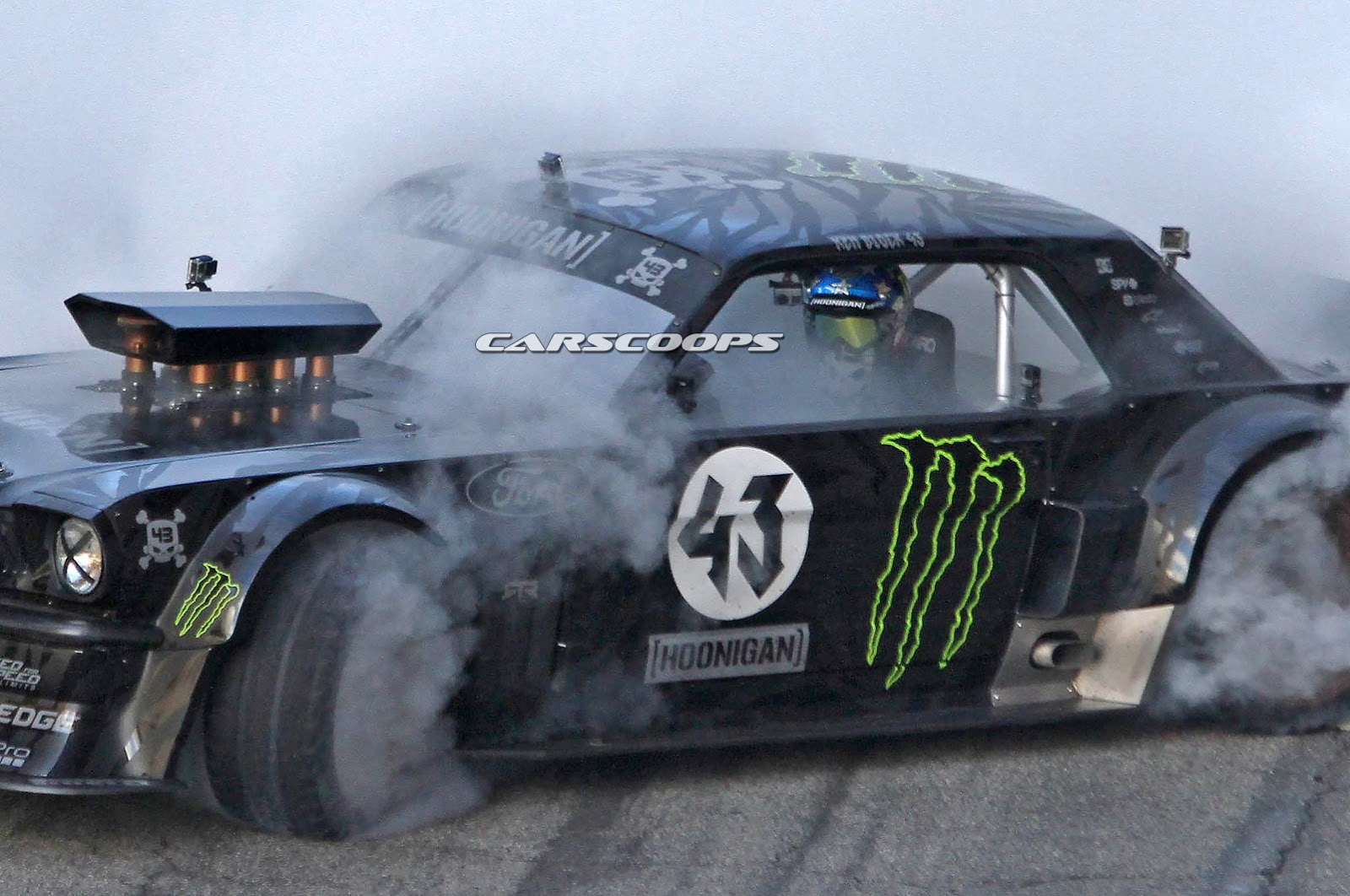ken block spied hooning a ford mustang for gymkhana 7. Black Bedroom Furniture Sets. Home Design Ideas