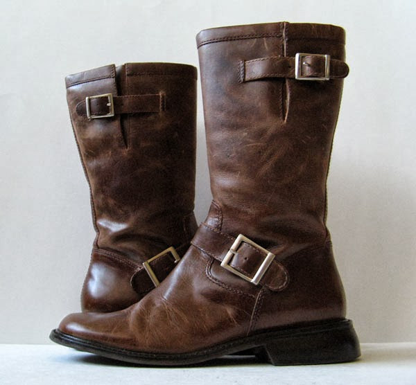 closet brown leather frye boots womens