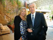 Don Alberto Arizu, fundador del imperio Luigi Bosca y la directora del BLOG de Vinos de Argentina