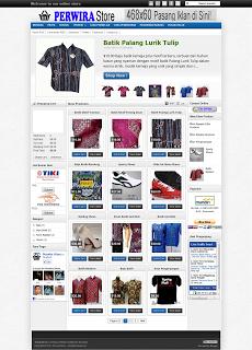 contoh Template Blog Toko Online