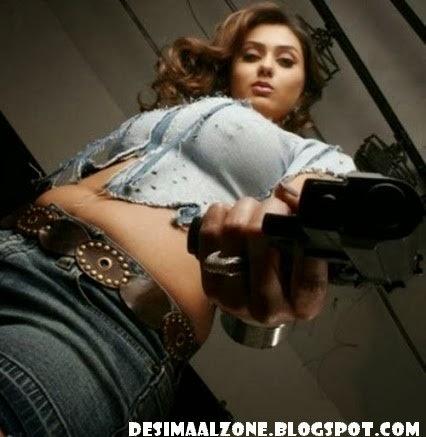 Hottest Namita Hot Body Figure With Gun